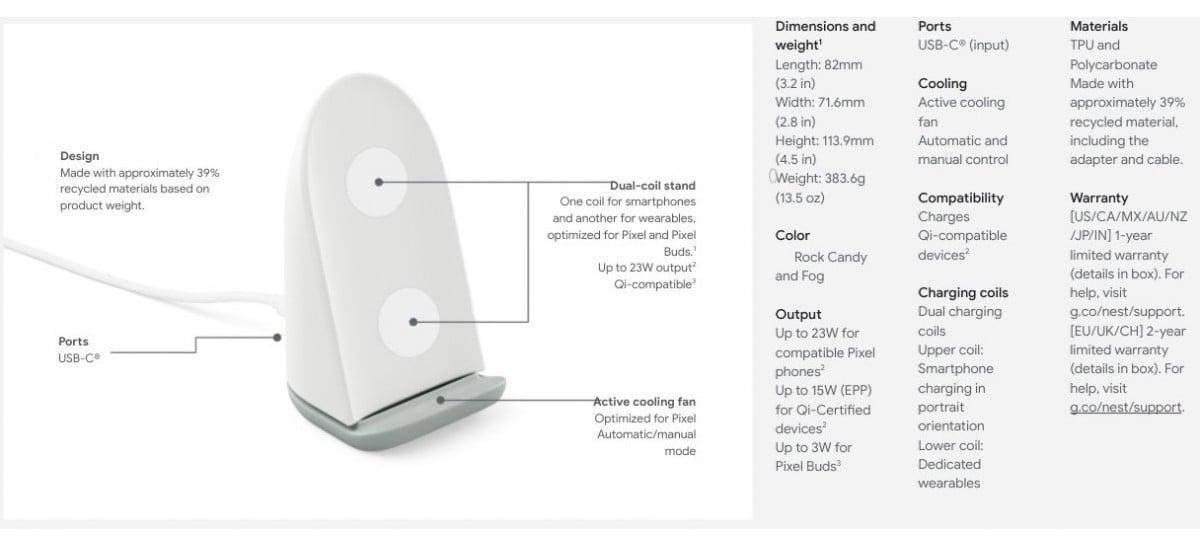 Carregador wireless Google Pixel Stand tem informações e preços vazados