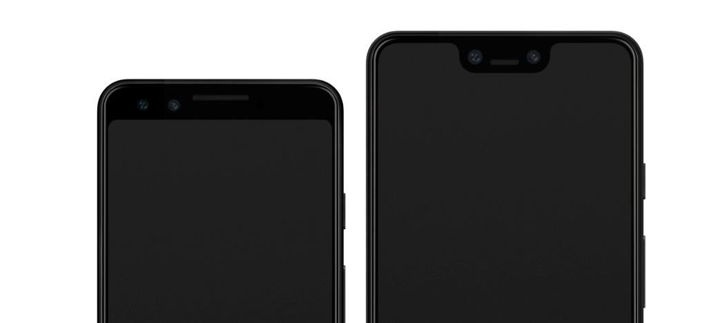 Imagens do Google Pixel 3 e 3 XL mostram duas câmeras frontais e interfaces do aparelho