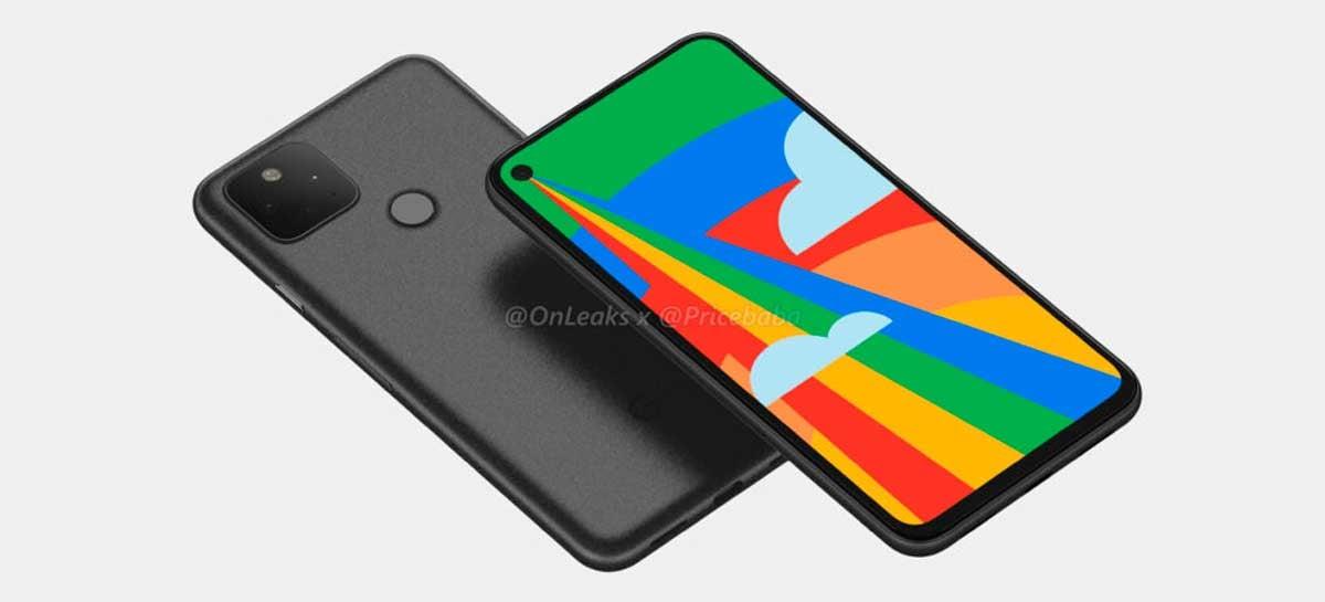 Novas renderizações do Google Pixel 5 mostram três câmeras traseiras