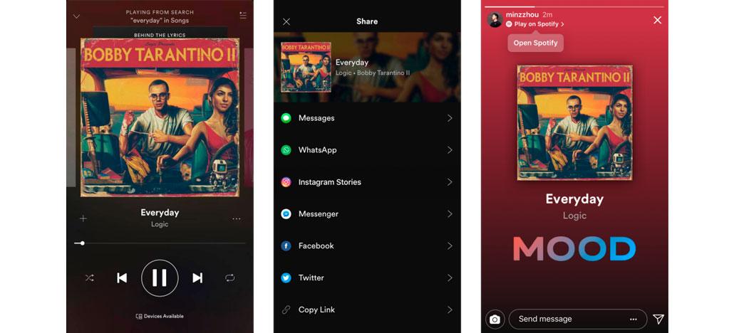 GoPro e Spotify agora permitem compartilhamento direto no Instagram Stories