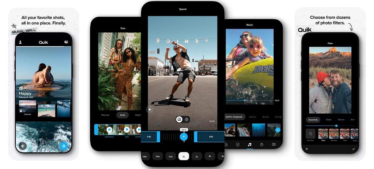 GoPro lança atualização do app Quik com várias novidades e otimizações