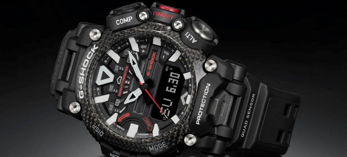 Casio lança relógio G-SHOCK Gravity Master com barômetro e construção em fibra de carbono