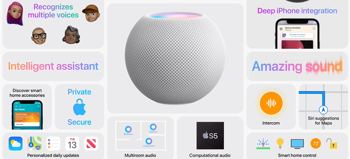 HomePod Mini é o smart speaker da Apple com visual diferenciado e novos recursos de conexão para casa