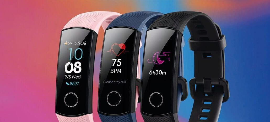 Honor Band 5 é anunciada com sensor SpO2 a partir de US$28