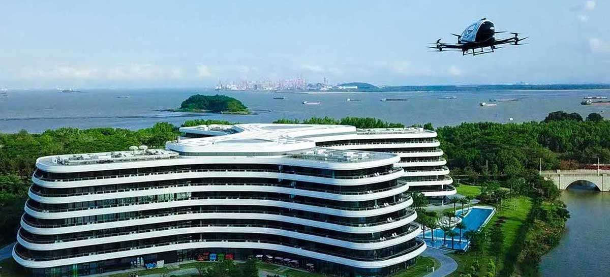 Primeiro hotel do mundo com temática de drones é inaugurado na China