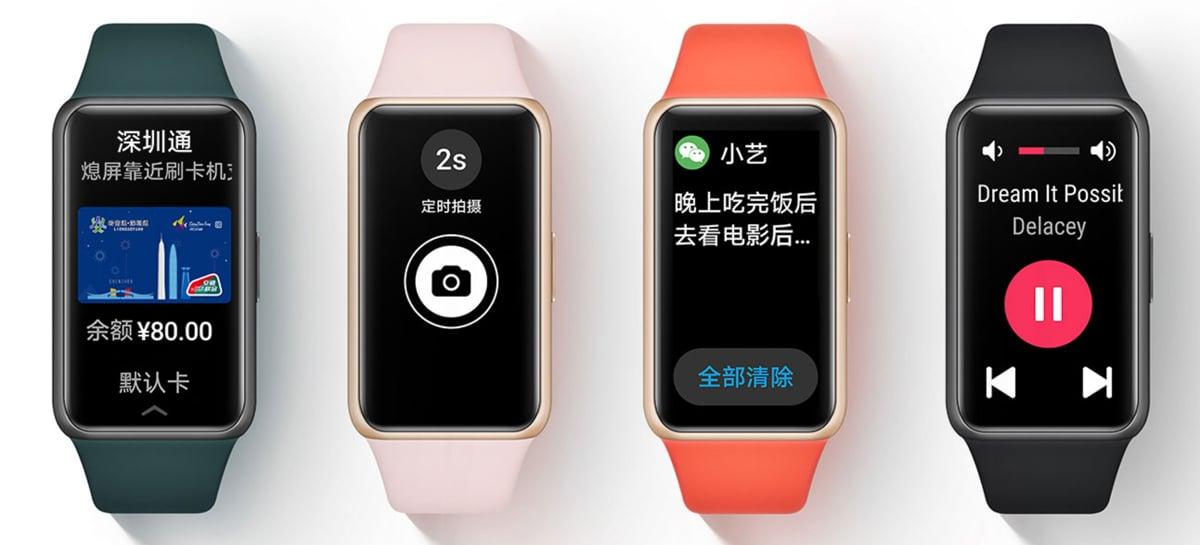 Huawei Band 6 é lançada na China como uma versão renomeada da Honor Band 6