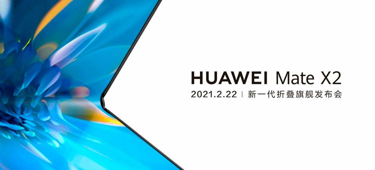 Mate X2: celular dobrável da Huawei será lançado dia 22 de fevereiro