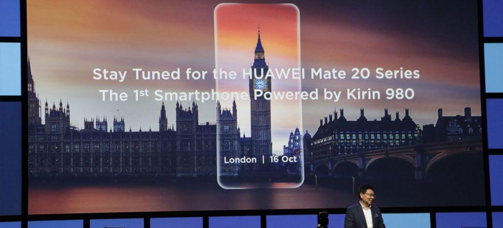 Huawei lançará smartphones Mate 20 em 16 de outubro com chip Kirin 980