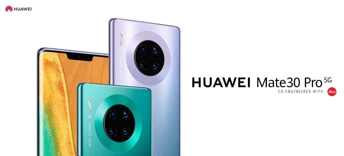 Celular Huawei Mate 30 Pro 5G está finalmente disponível fora da China