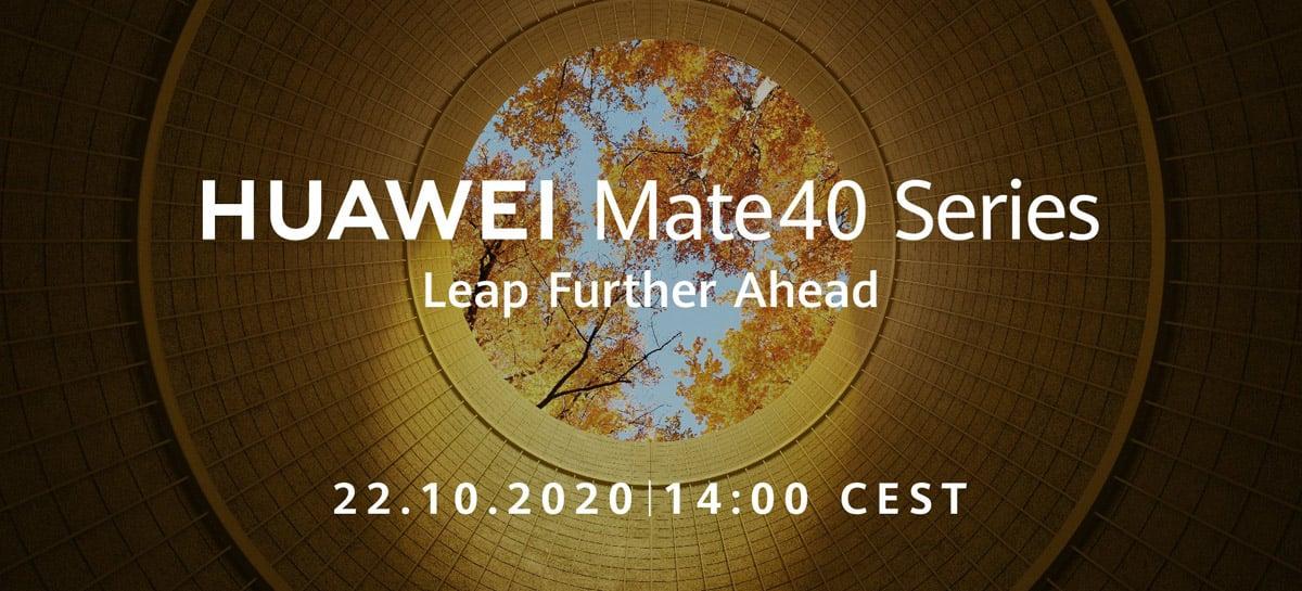 Celulares Huawei Mate 40 serão anunciados no dia 22 de outubro