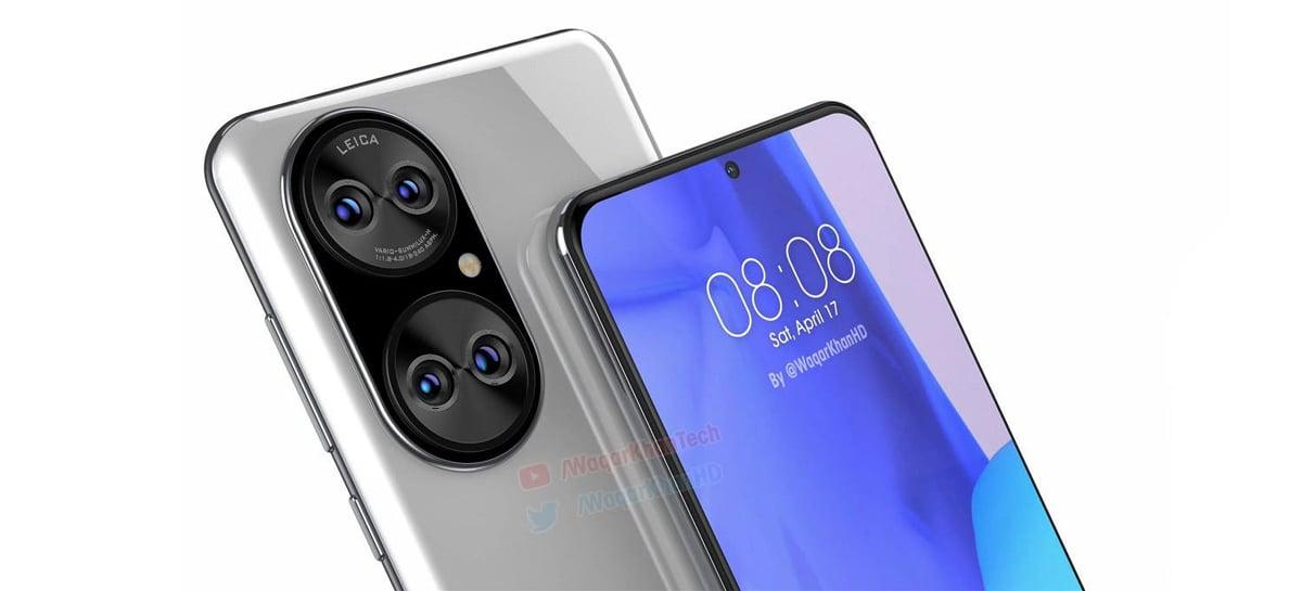 Huawei P50 tem imagens em alta resolução vazadas com design inédito de câmeras