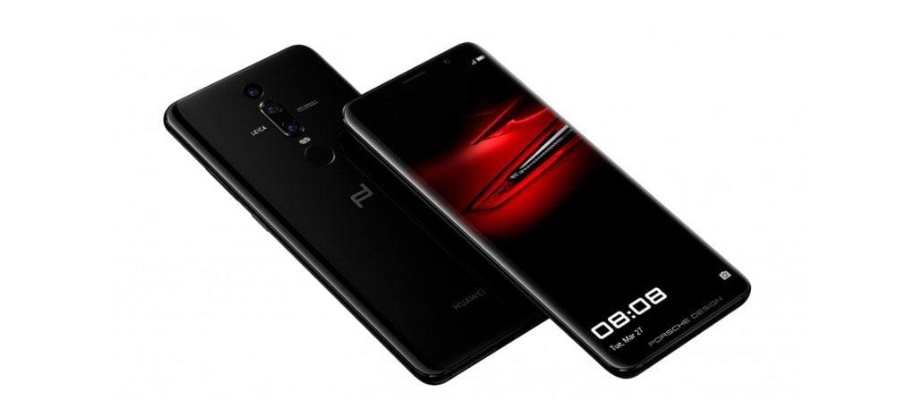 Huawei Porsche Design Mate RS possui câmera tripla e leitor de digitais na tela