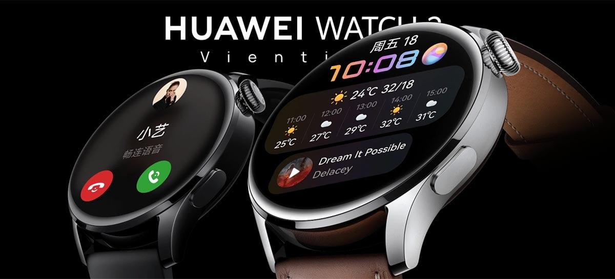 Huawei Watch 3 é anunciado oficialmente e virá com o HarmonyOS