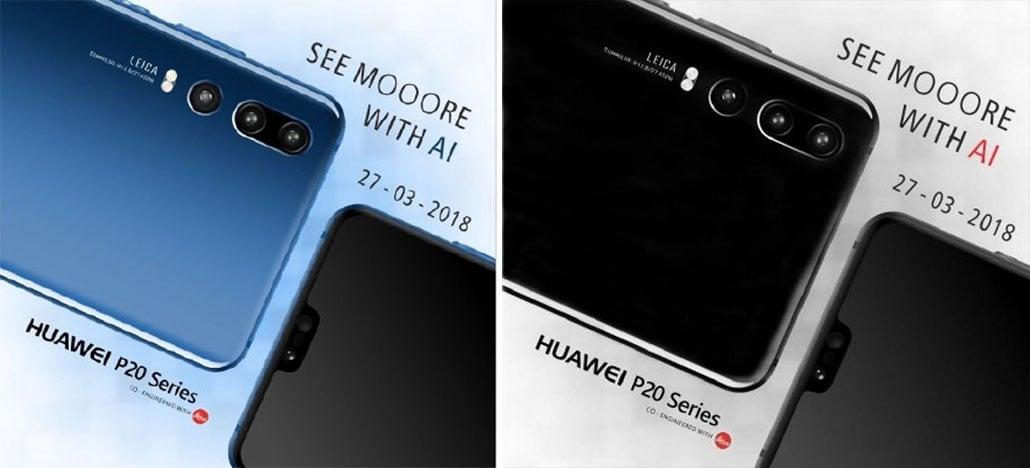 Huawei P20, P20 Lite e P20 Pro aparecem em novas imagens vazadas
