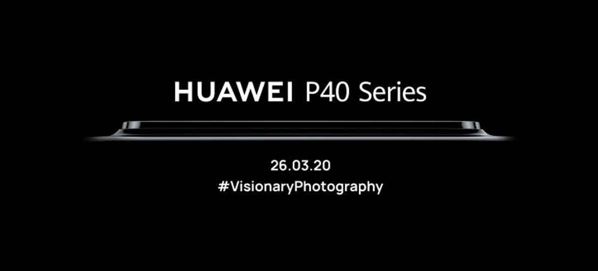 Huawei P40 será anunciado no dia 26 de março