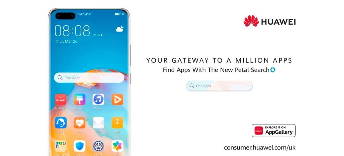 Huawei apresenta Petal Search, serviço que ajuda os usuários a encontrar apps