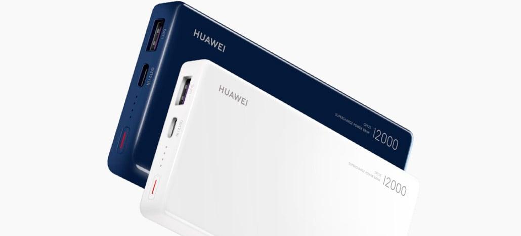 Huawei anuncia power bankSuperCharge de 12000mAh com carregamento bidirecional de 40W