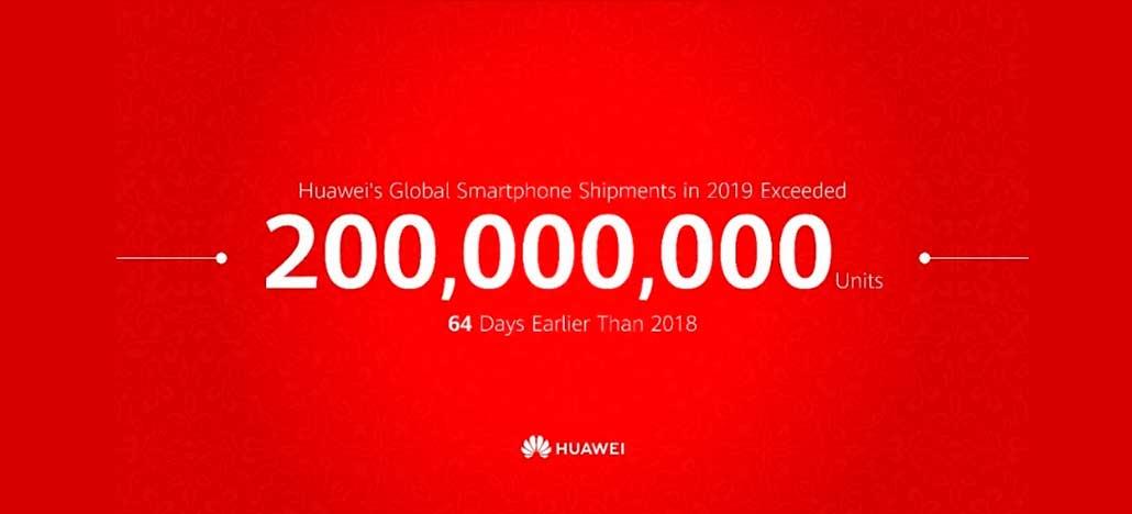 Huawei vende 200 milhões de smartphones em 2019 e quebra próprio recorde