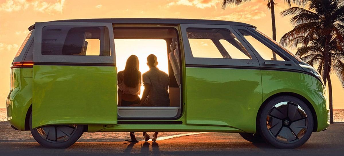 """Volkswagen vai lançar a ID.Buzz nos EUA em 2023, sua primeira """"Kombi"""" elétrica"""