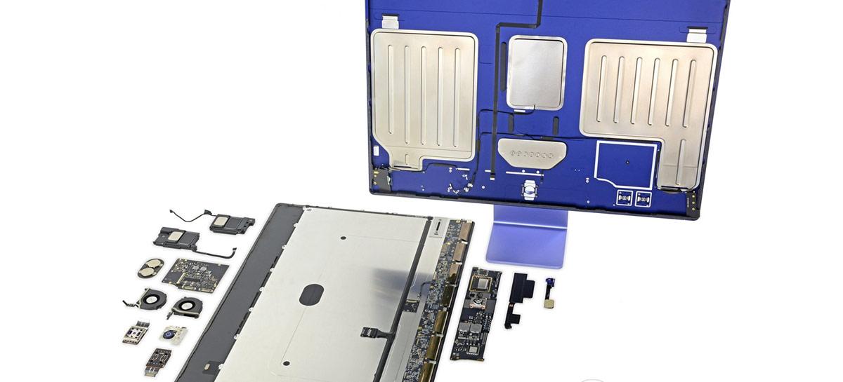 iFixit mostra como é difícil de desmontar o novo iMac de 24'' com M1