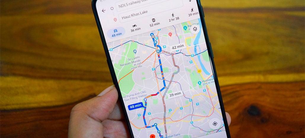 Google Maps oferece suporte para vários meios de transporte em uma única viagem