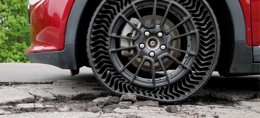 General Motors pretende usar pneus sem ar e à prova de furos em 2024