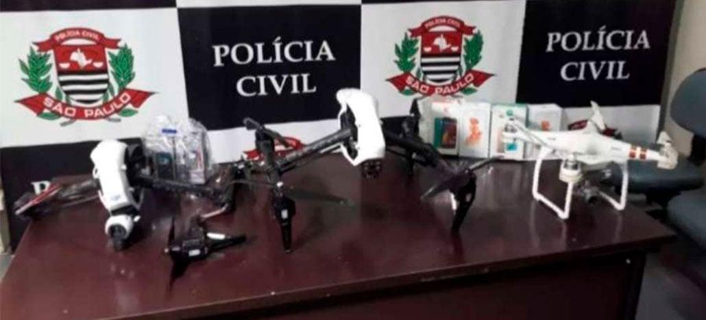 Quadrilha usa drone da linha Inspire da DJI para entregas em presídios