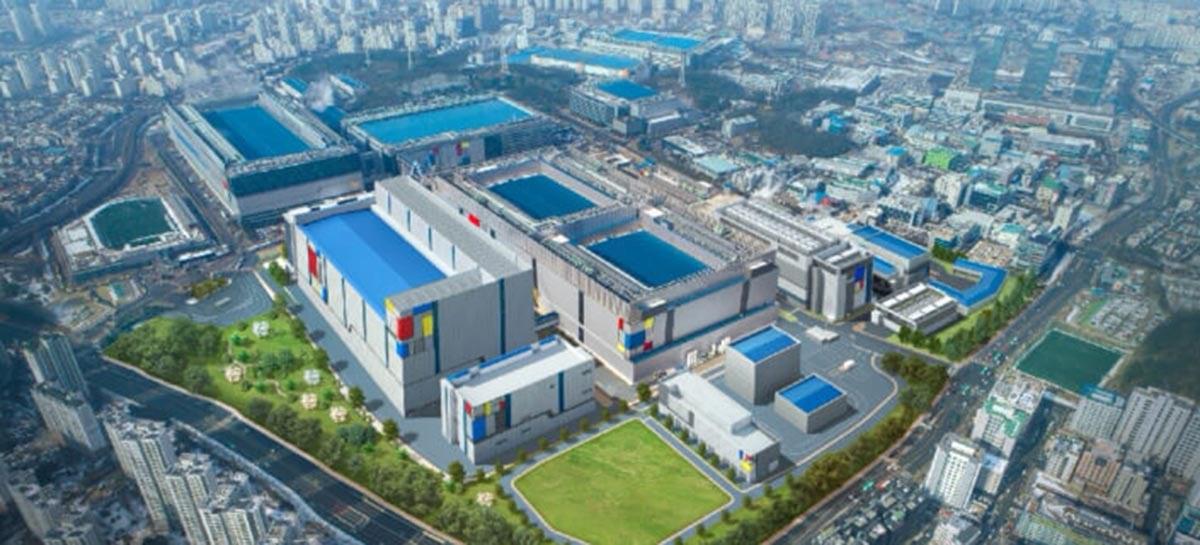 Imagens de drone mostram o campus de semicondutores da Samsung na Coreia do Sul