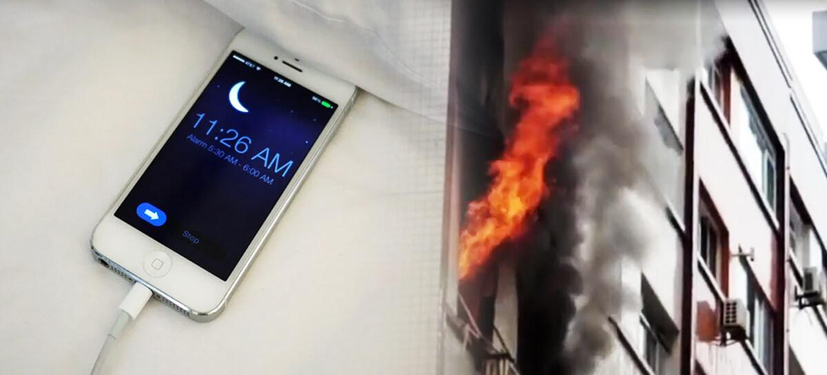 Celular superaquecido causa incêndio em dois apartamentos de São Paulo