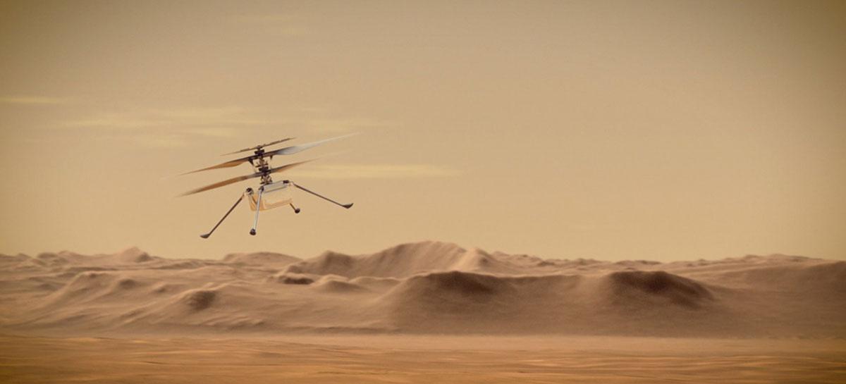 Primeiro voo do helicóptero Ingenuity da NASA em Marte é adiado para 14 de abril