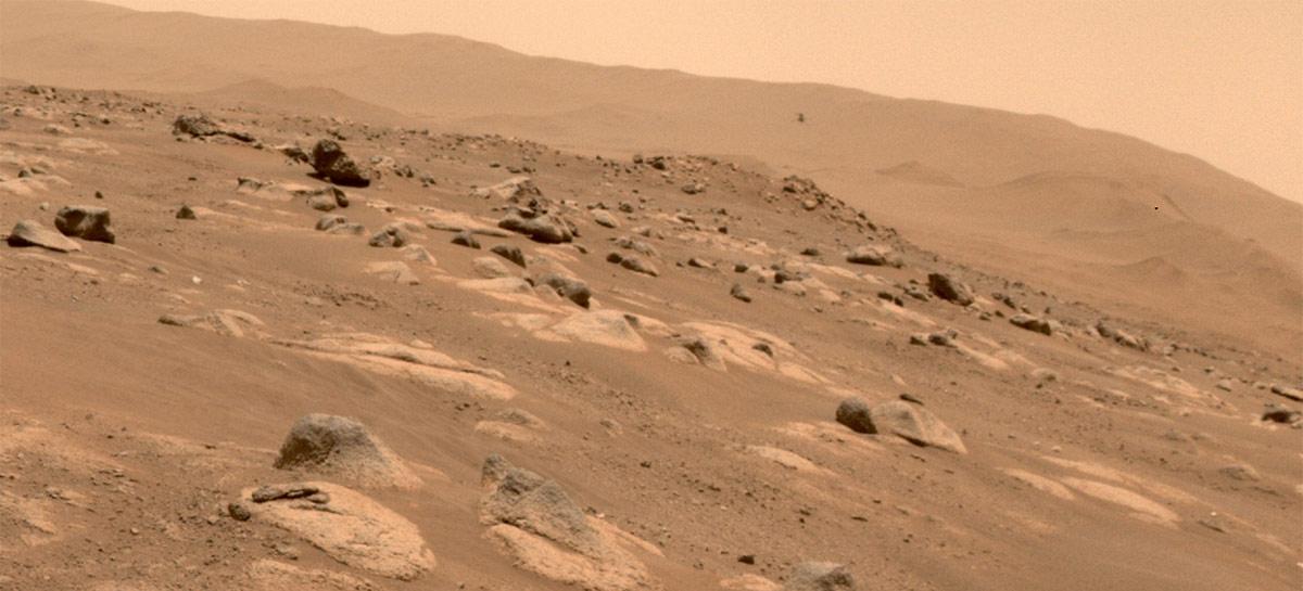 """Depois de um """"soluço"""", Ingenuity conquista seu quarto voo em Marte"""
