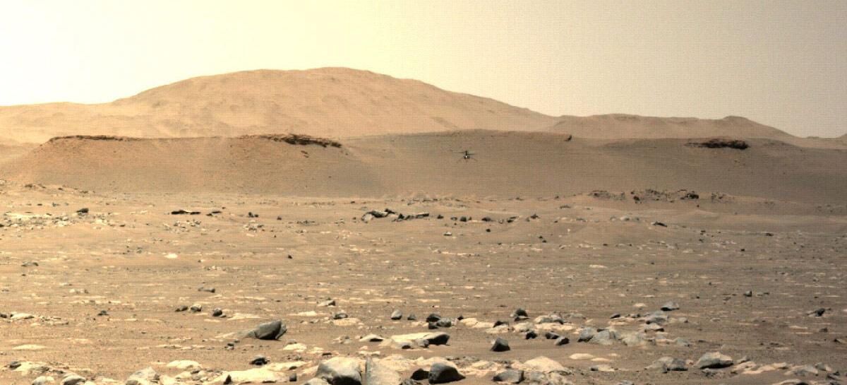 Ingenuity chega ao seu terceiro voo em Marte - cada vez mais longe e mais rápido