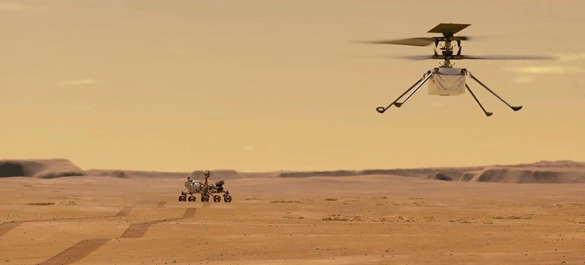 Qual a importância dos primeiros voos do helicóptero Ingenuity em Marte?