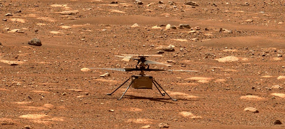 NASA informa que Ingenuity vai receber atualização para voo histórico