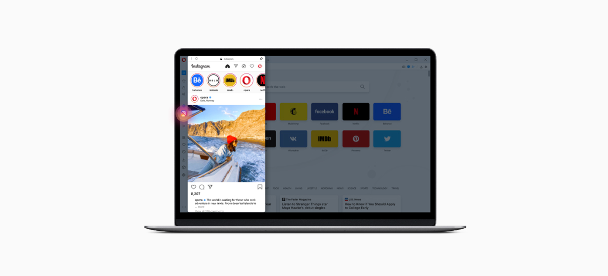 Navegador Opera 68 agora vem com Instagram integrado