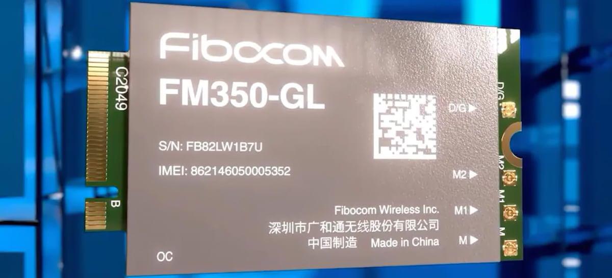 Intel anuncia seu primeiro modem 5G M.2 para laptops