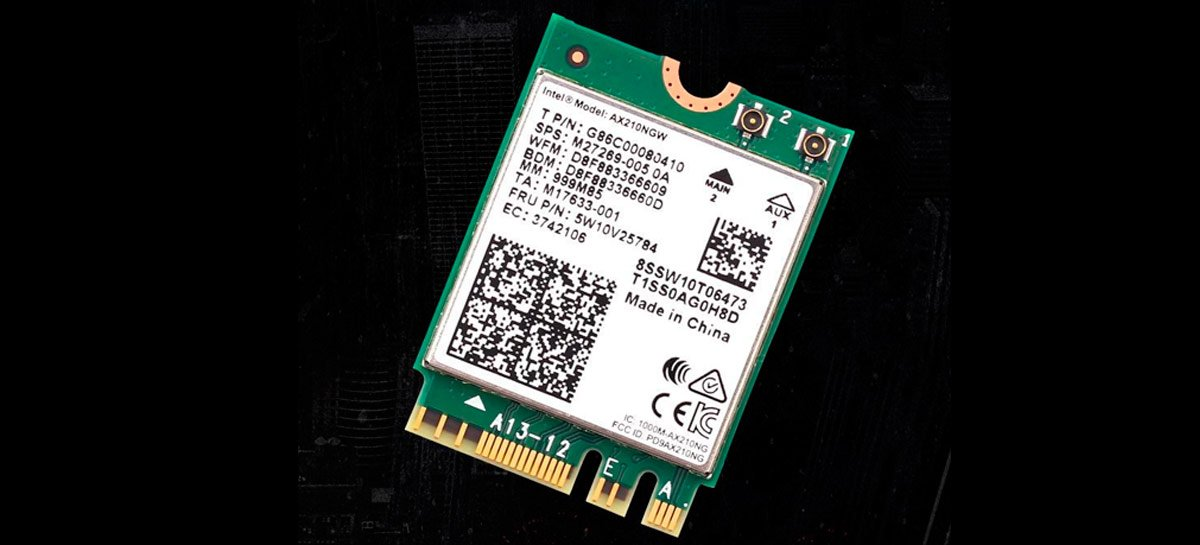 Intel começa a distribuir o primeiro adaptador para Wi-Fi 6E, o Intel AX210