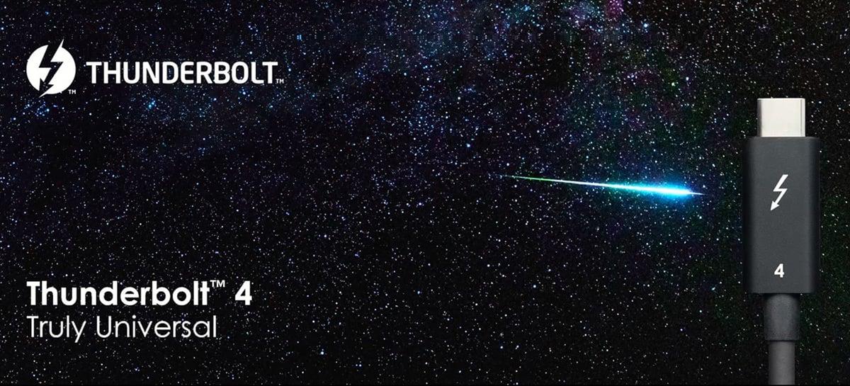 Novo padrão Thunderbolt 4 da Intel não é mais rápido que o Thunderbolt 3, mas é melhor