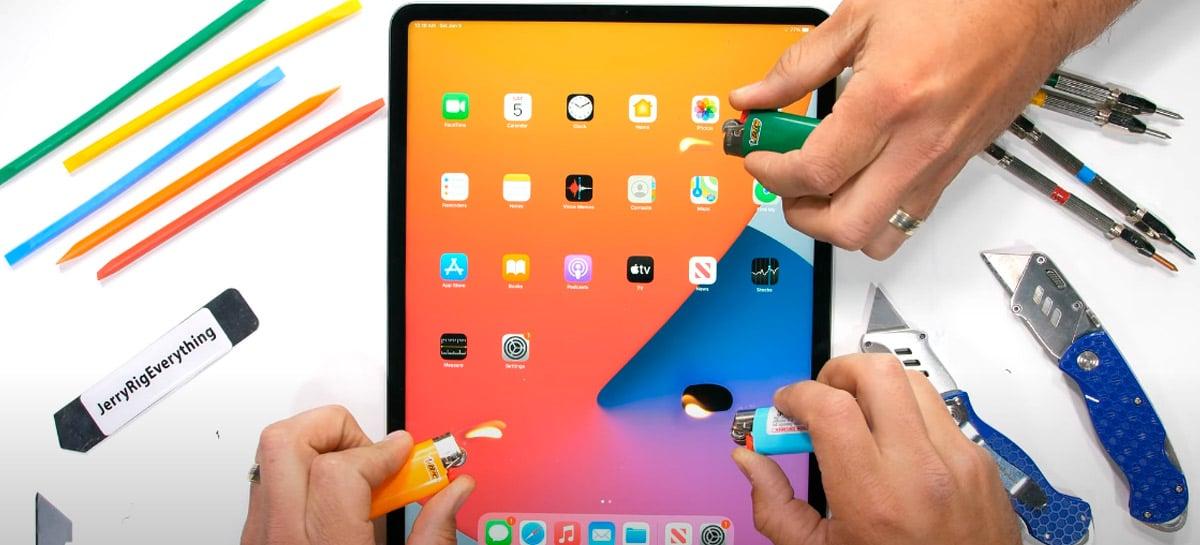Apple M1 iPad Pro de 12,9 polegadas passa por testes de riscos, fogo e torção