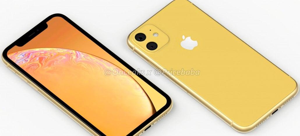 Renderizações do iPhone XR de 2019 mostram câmeras traseira dupla em um quadrado