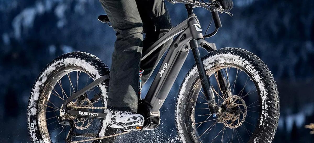 A E-bike é a nova bicicleta elétrica da Jeep que roda até 64km com uma única carga