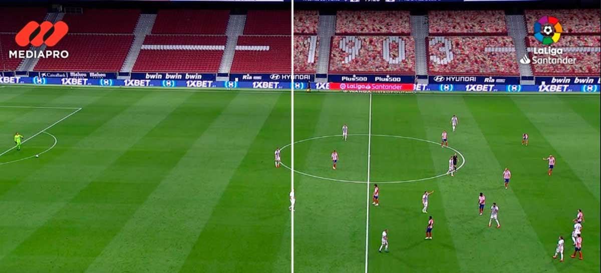 Liga de futebol espanhola tem torcida criada por computador para quem assiste pela TV