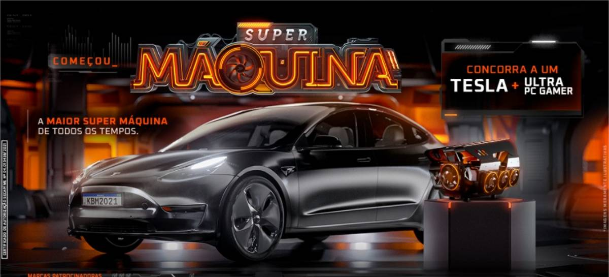 KaBuM! lança promoção que sorteará um PC Gamer top de linha e um Tesla Model 3