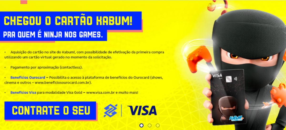 KaBuM! traz cartão de crédito em parceria com Visa e Banco do Brasil