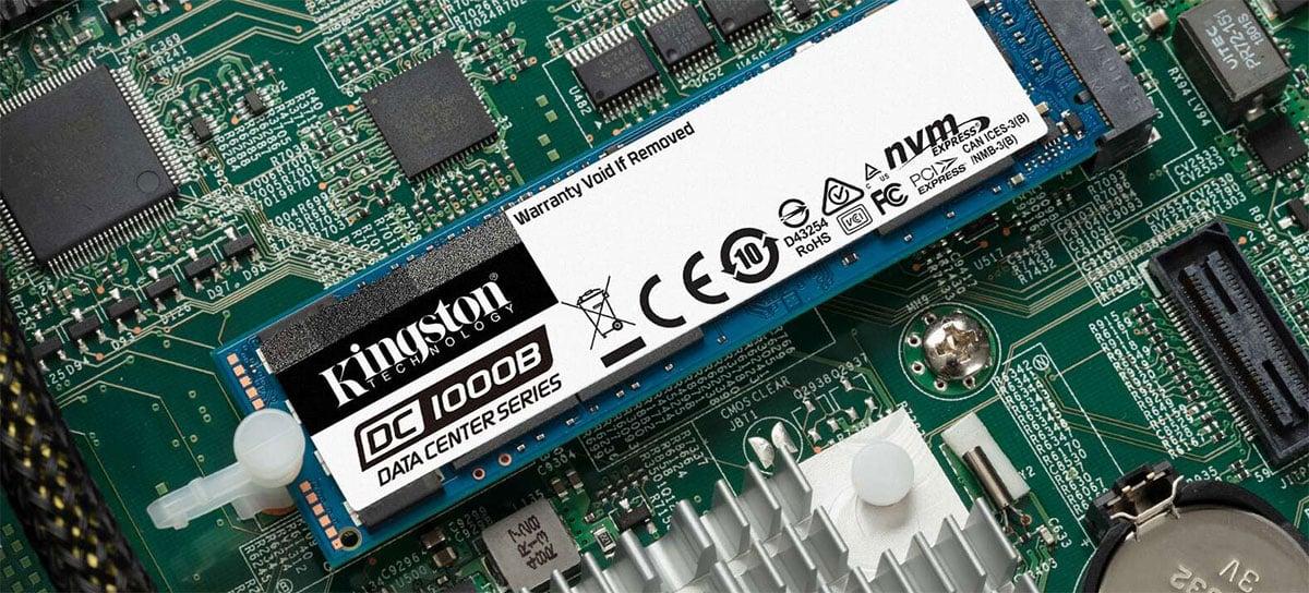 Kingston lança novos SSDs SATA de 7,68 TB para data centers de alto desempenho