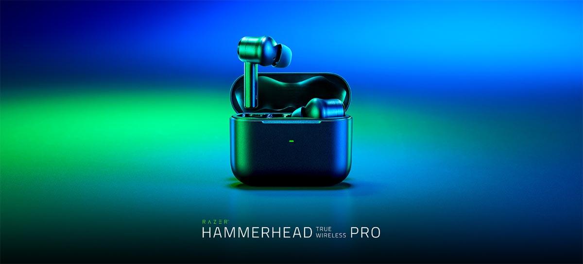Razer lança o Hammerhead True Wireless Pro seu novo fone de ouvido sem fio