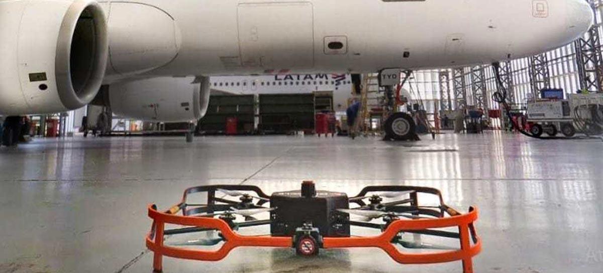 LATAM inova ao utilizar drones para inspeção de aeronaves
