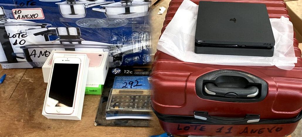 Leilão da Receita Federal traz lotes com iPhones e Playstations 4 a partir de R$200