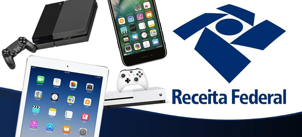Leilões da Receita Federal oferecem Iphones, IPads, PS4 e Xbox One a partir de R$500