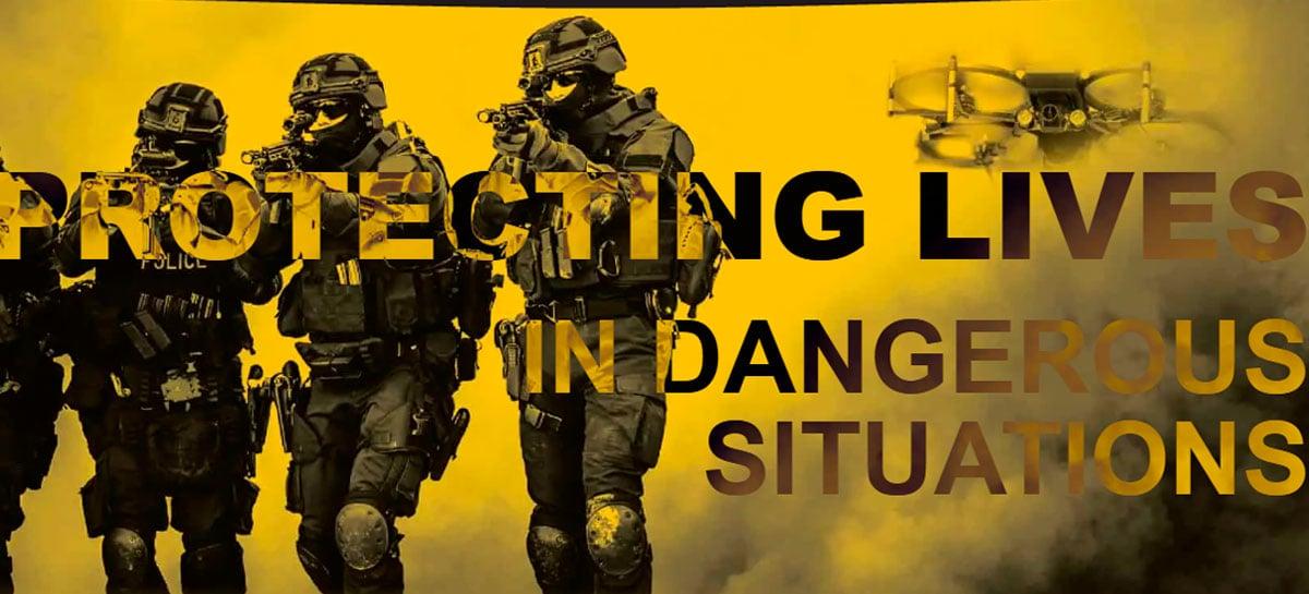 Drone da SWAT pode quebrar janelas, abrir portas e derrubar outros drones
